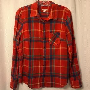 🆕☀️4/$15 Like New Red Plaid Button Down